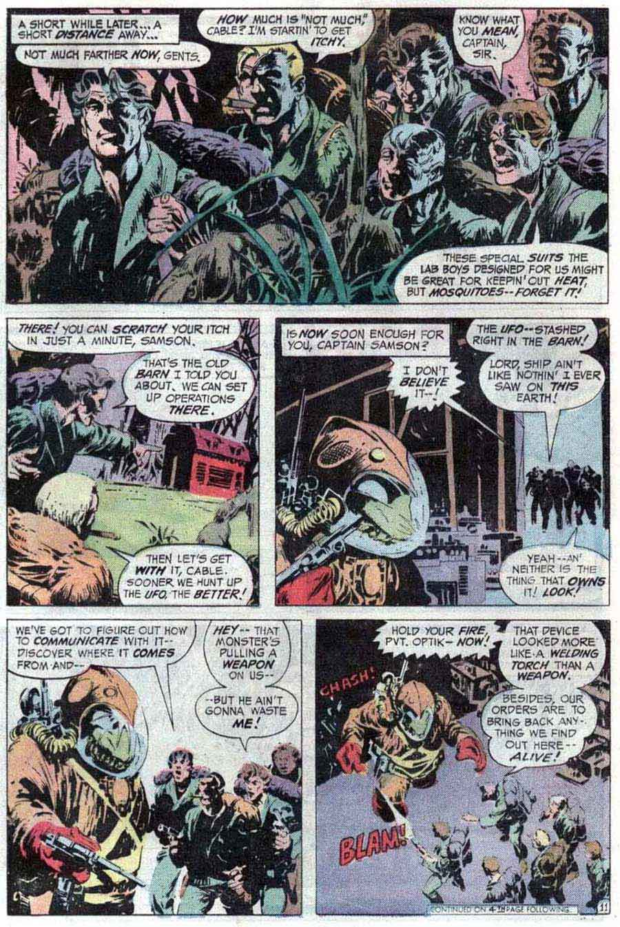 Swamp Thing v1 #9 1970s bronze age dc comic book page art by Bernie Wrightson