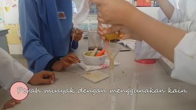 Aktiviti ekstrak Minyak Kelapa Sawit dalam makmal