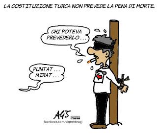 golpe, turchia, pena di morte, vignetta, satira