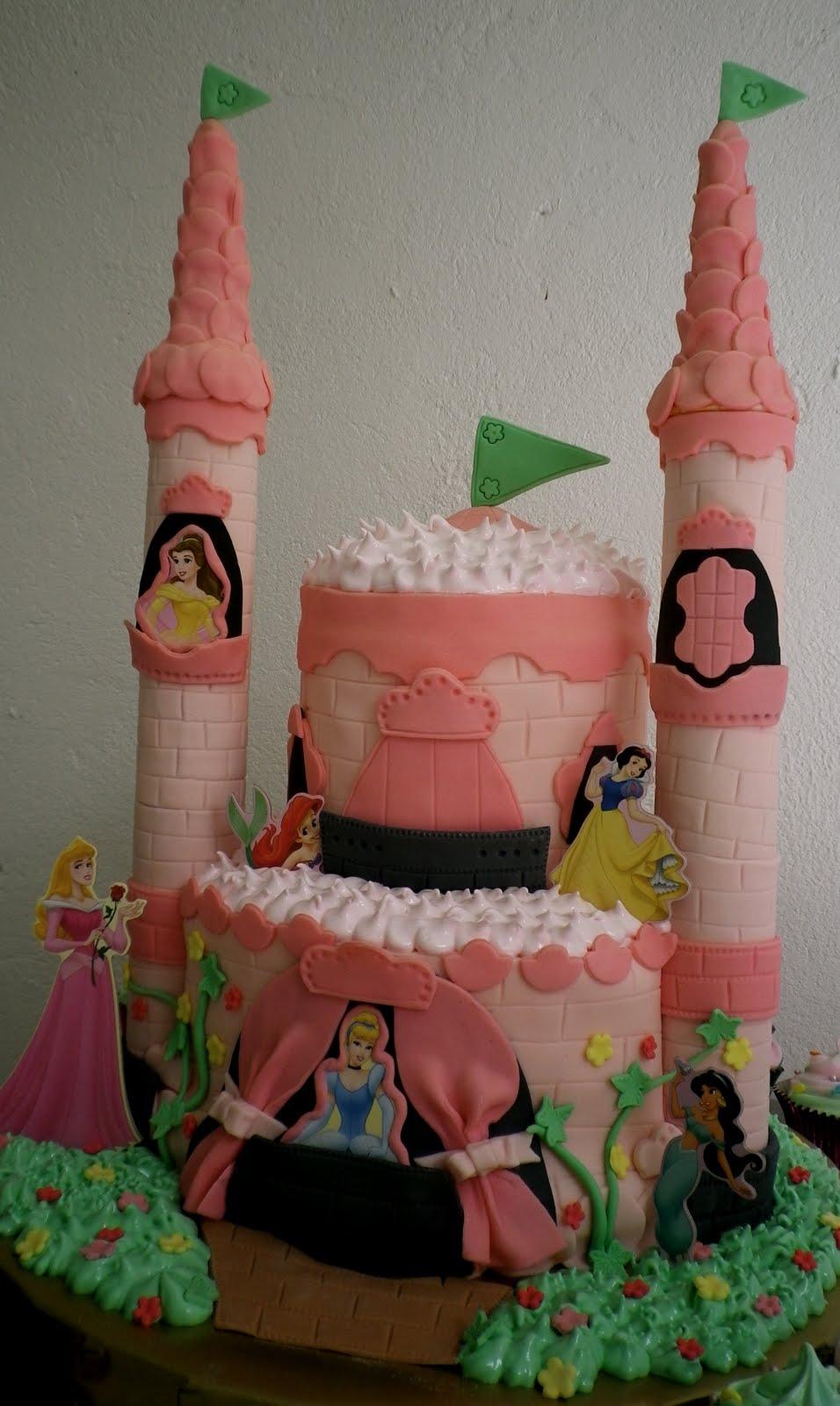 Little Cake Shop Disney Princess Castle Cake
