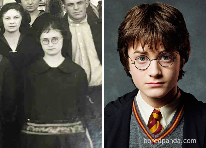 #10 Turns Out My Great Aunt Was Harry Potter - 10 Celebrity Lookalikes That Prove Time Travel Exists
