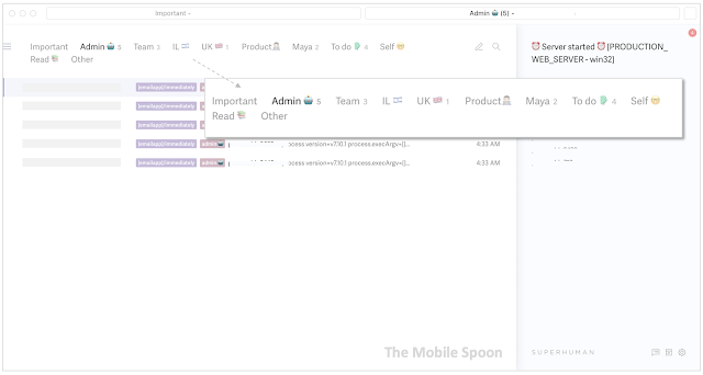 My favorite Superhuman feature - split inbox
