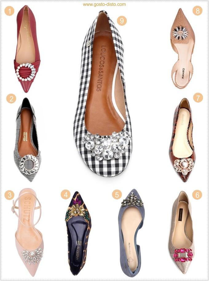 Sapato com pedraria é tendência para Cinderelas urbanas