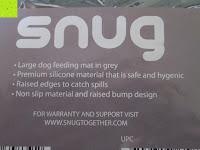 Information: Snug Haustier Fressnapf Unterlage Futtermatte für Hund und Katze Premium Silikon - 48cm x 30cm