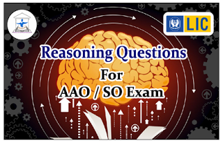 Reasoning Questions (Inequality) for LIC AAO/IBPS SO Exams