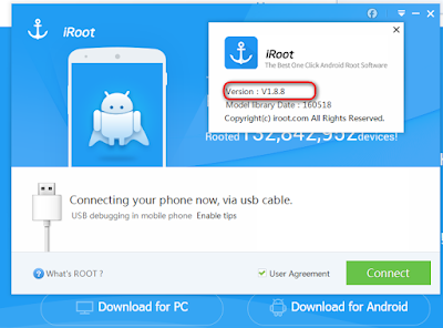 One Click Android Root iRoot Software-Version:1.8.8