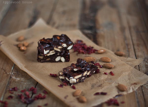 Almond cranberry bar pamk applewood house chocolate