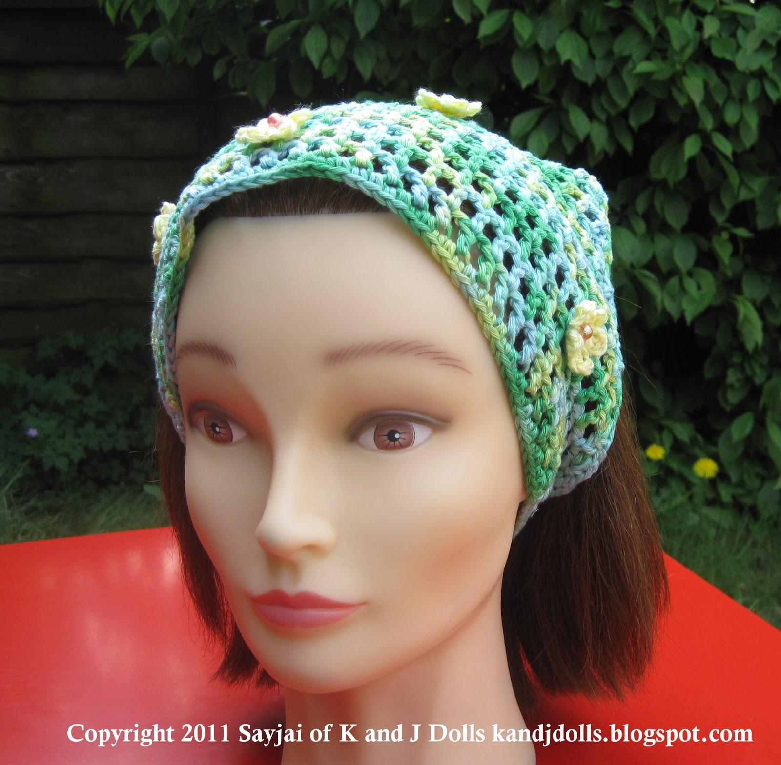 Free Summer Head Scarf Crochet Pattern Sayjai Amigurumi