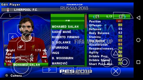 تحميل لعبة بيس 2018 للاندرويد مود كاس العالم ودوري الابطال