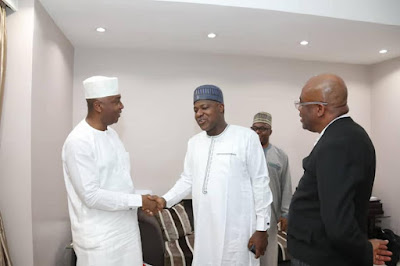 Photos Of Dogara Congratulating Saraki After Supreme Court Victory