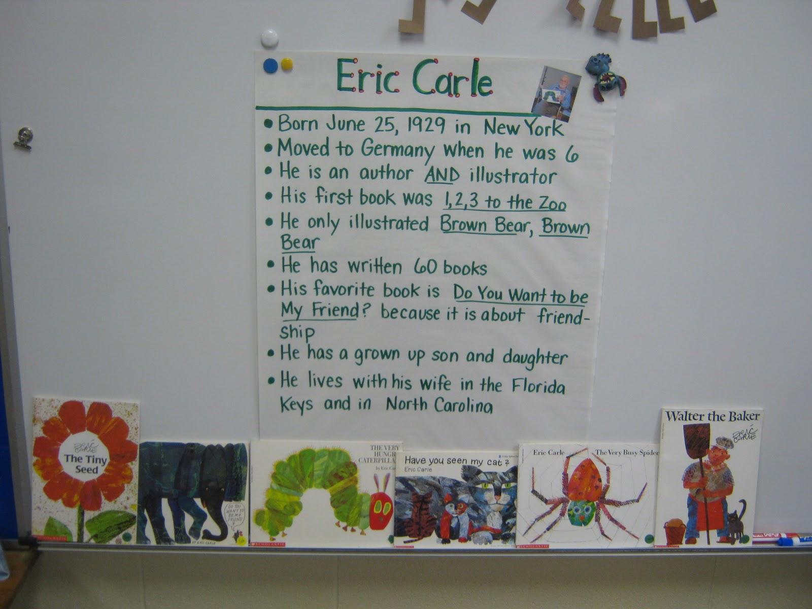 Mrs Bagby S Kindergarten Author Study Week