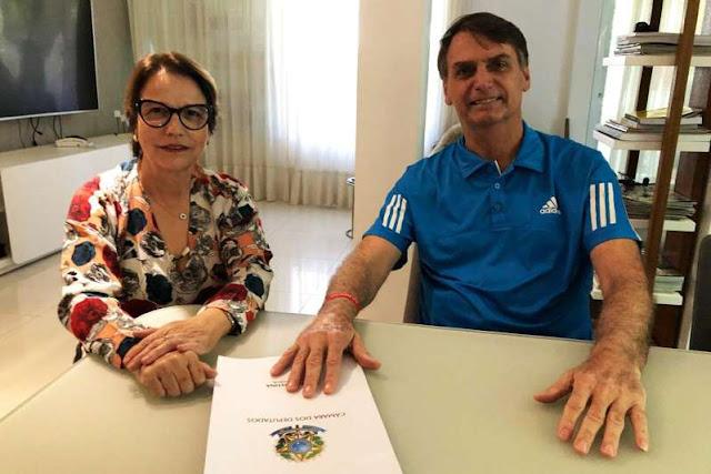 Ministra da agricultura de Bolsonaro será a deputada Tereza Cristina