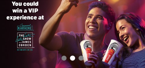 McDonald's and Coke want to see you singing Karaoke into your McDonald's Coka-Cola cup. Share to win a trip to The Late Late Show with James Corden, gift cards & more!