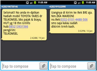 penipuan via SMS