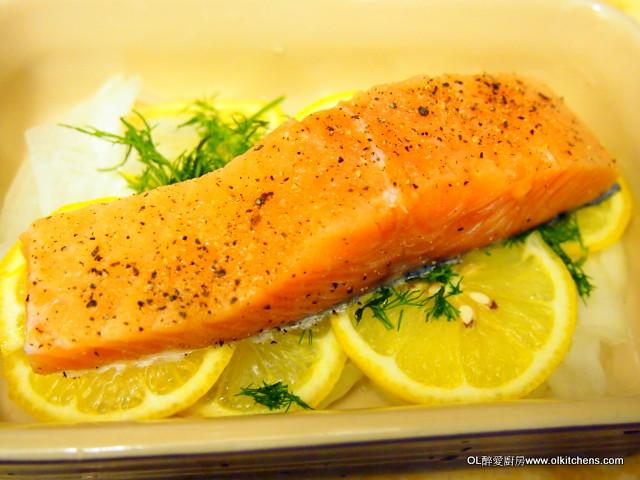 OL醉愛廚房: 【Miele蒸爐食譜】永不失敗的慢煮三文魚(Slow cook salmon)