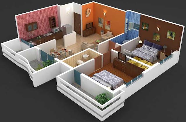 Stylish%2BModern%2BHome%2B3D%2BFloor%2BPlans%2B%25282%2529 Stylish Home 3D Floor Plans Interior