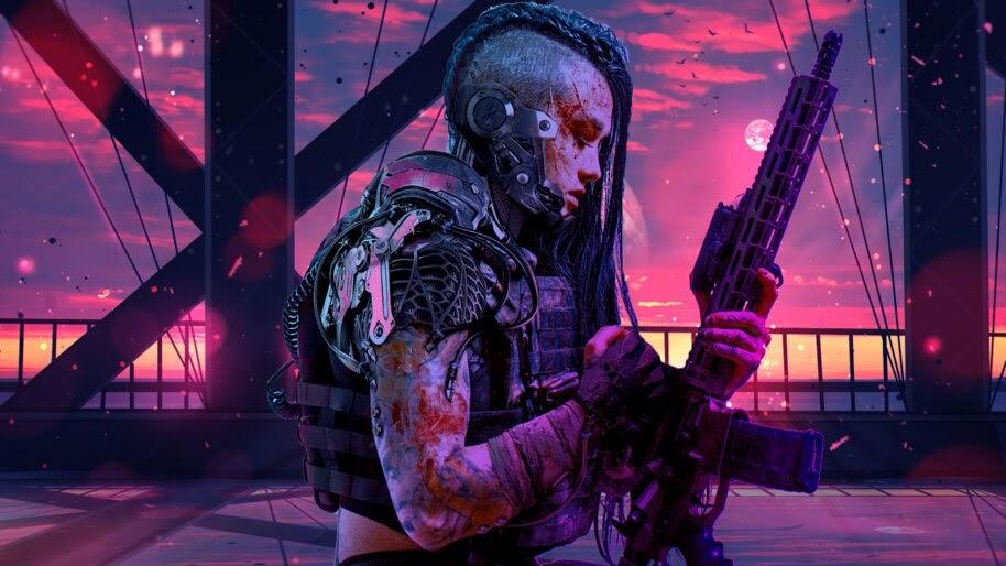 Sci-Fi, Girl, Soldier, Guns, 4K, #4.606