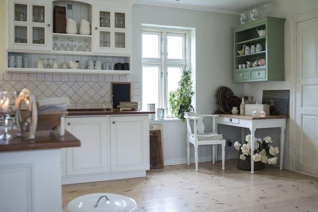 cozinha com plantas