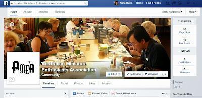 Facebook header for the Australian Miniature Enthusiasts Association page.