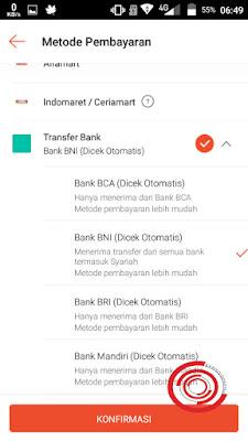 Ada 3 metode pembayaran untuk Top Up ShopeePay ini, yaitu Alfamart, Indomart/Ceriamart, dan Transfer Bank