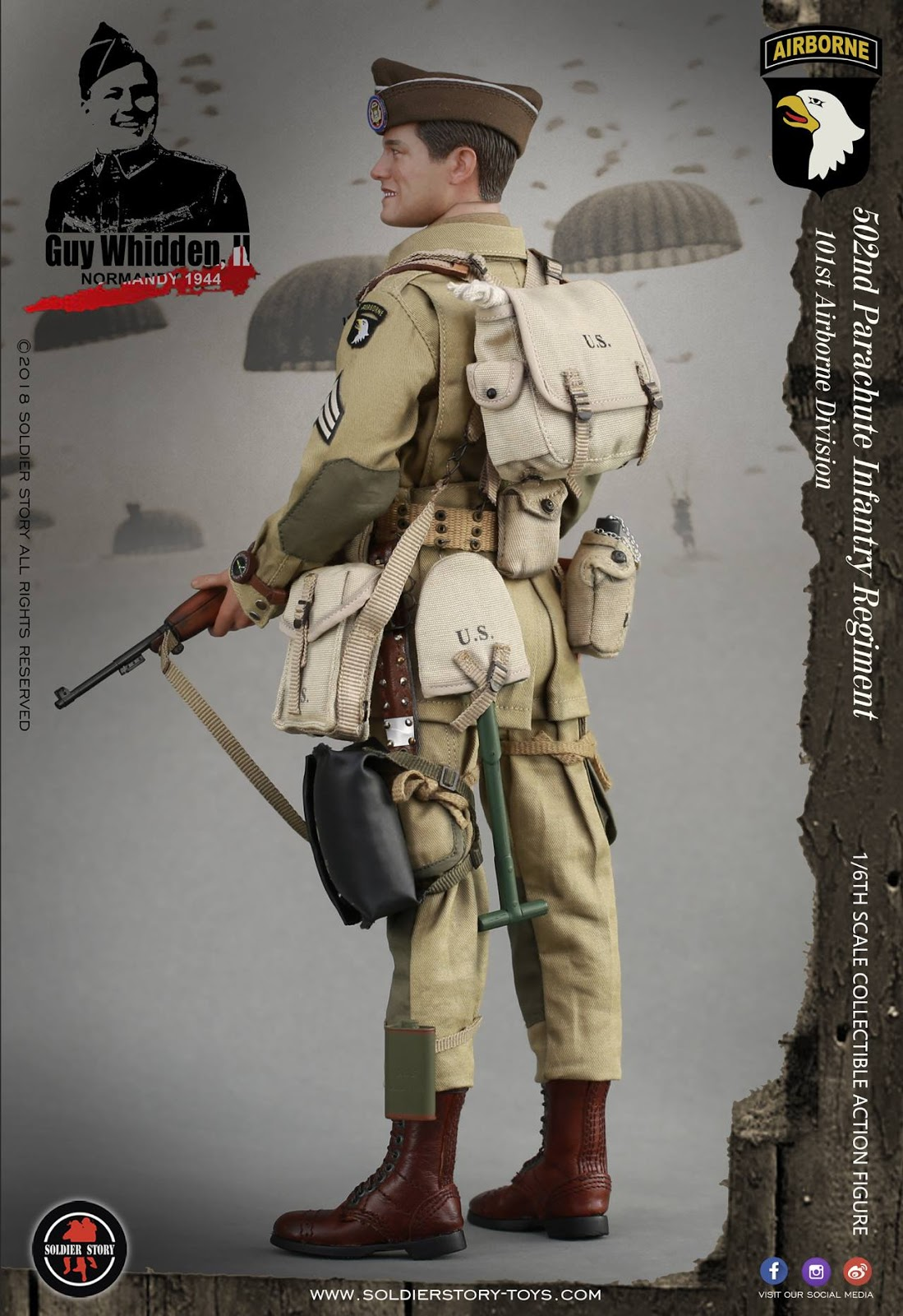 Soldier Story SS110 1//6 WWII US 101st Airborne Division Paratrooper Glove Model