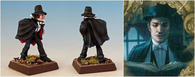 Dexter Drake magician painted miniature