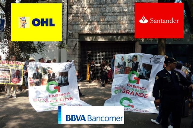 OHL, Santander y Bancomer apoyan a Del Mazo, denuncia Frente Mexiquense pro vivienda