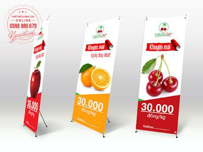 Thiết kế standee online, in standee giá rẻ, giao hàng tận nơi tạ HCM