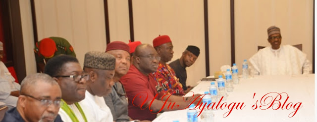 PHOTOS...My govt not marginalising the Igbos, Buhari TO  South East leaders