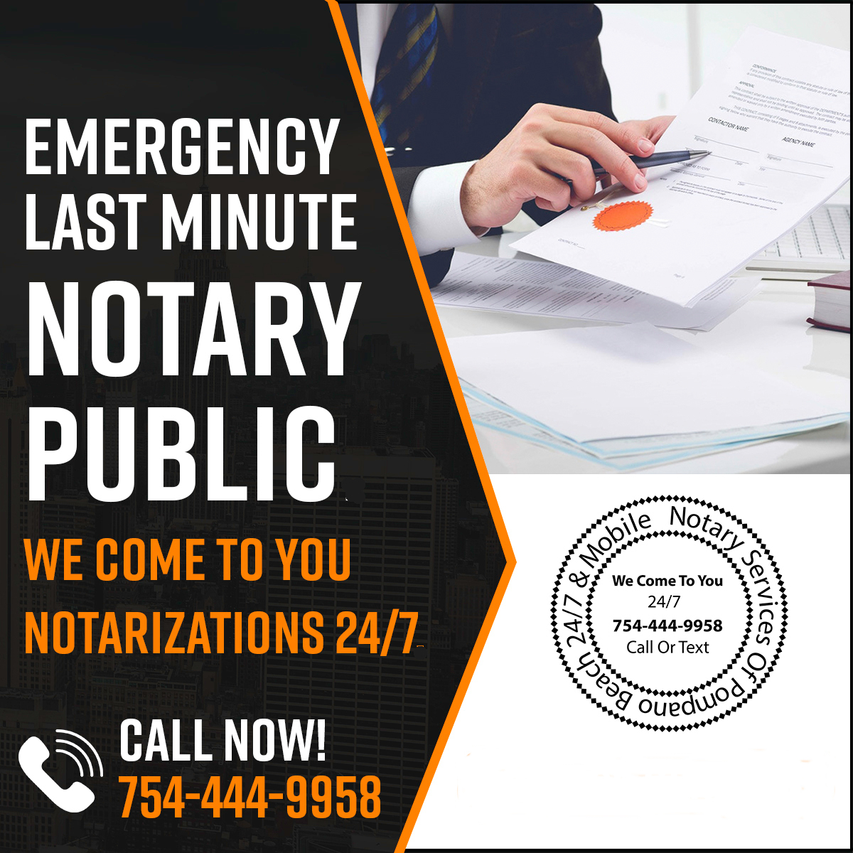 Mobile Notary Public and Witnesses Notarize Trusts @ Your