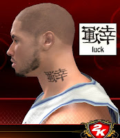 NBA 2K13 Neck Tattoo Mod - Asian Characters Luck