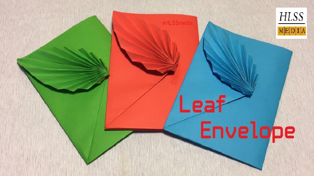 How To Make Leaf Envelope With Paper Diy Origami Envelope Folding