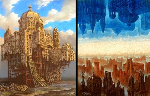 29-Golden-Palace-and-the-two-Cities-Marcin-Kołpanowicz-Painting-Architecture-in-Surreal-Worlds-www-designstack-co