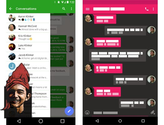 Download Gratis Aplikasi Android EvolveSMS merubah tampilan SMS