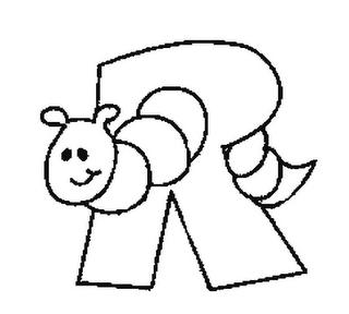 Abecedario de Animales Letra R Para Colorear - Dibujos ...