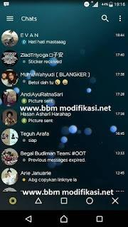 BBM MOD Transparan Yellow v3.0.1.13 Apk Terbaru