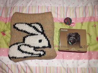 A bunny jumper and camera box