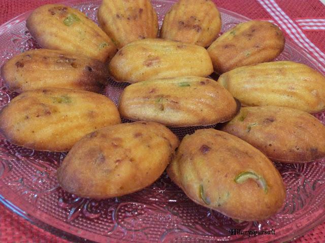 Madeleine chorizo et olives