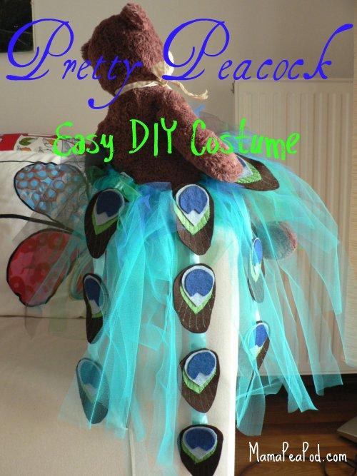 peacock tutu costume DIY & Mama Pea Pod: Pretty Peacock Easy DIY Tutu Costume