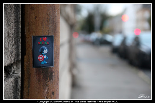 Street art Stickers Sedan par Paco