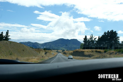 Driving to Orakei Korako Taupo New Zealand