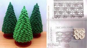Pino para Navidad en punto escama - crochet