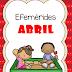 Efemérides Abril para primaria y preescolar en pdf