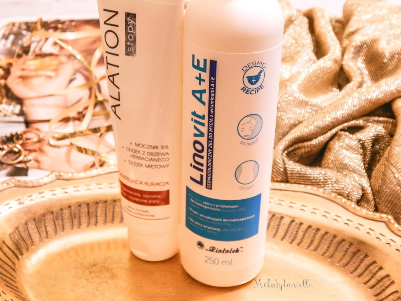 7 ziołolek Linovit a + e dermatologiczny żel do mycia z witaminami  recenzja opinia działanie żel produkty do skóry alergicznej mieszanej atopowej trudnej wrażliwej