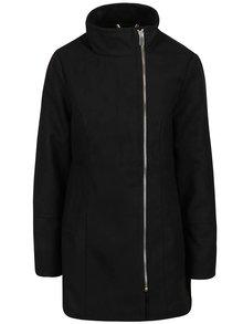 Palton negru Vero Moda Veraliga cu fermoar de iaran reducere