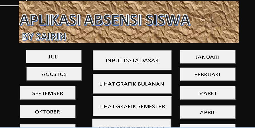 Software Absensi Aplikasi Excel Free Download