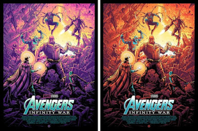 New York Comic Con 2018 Exclusive Avengers: Infinity War Movie Poster Screen Print by Dan Mumford x Grey Matter Art x Marvel