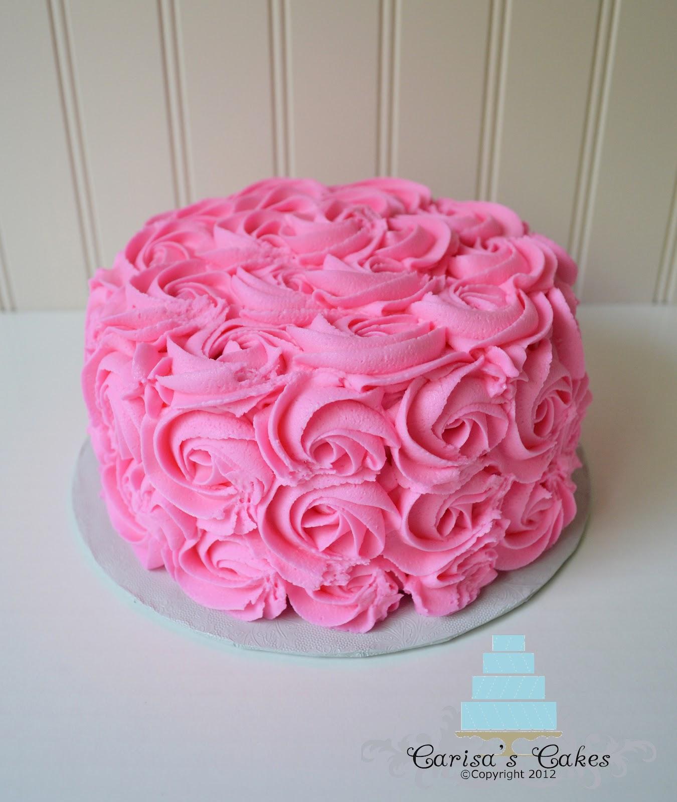 Rose Swirl Cake Design : rose swirl smash cake