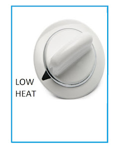 Dryer Dial on Low Heat