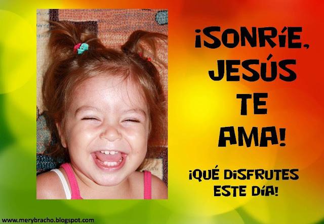 Postal Sonríe, Jesús te ama